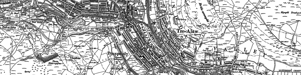 Old map of Tonypandy in 1898