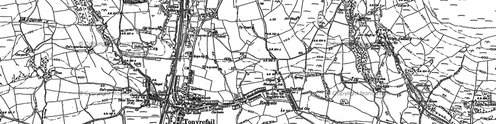 Old map of Tonyrefail in 1898