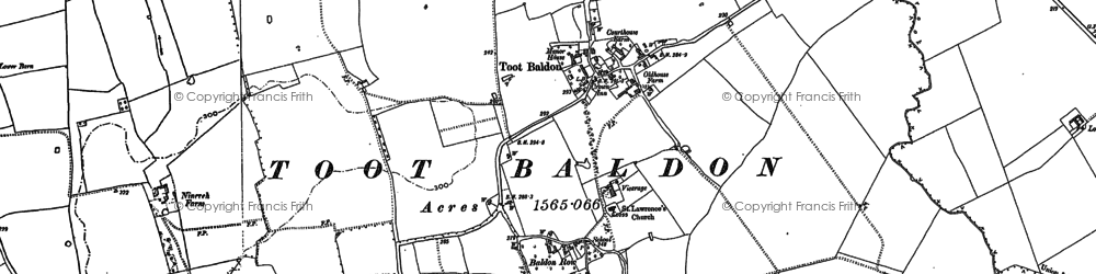 Old map of Baldon Row in 1897