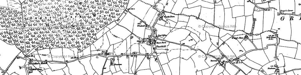 Old map of Toot Hill in 1895
