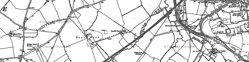Old map of Toothill in 1899