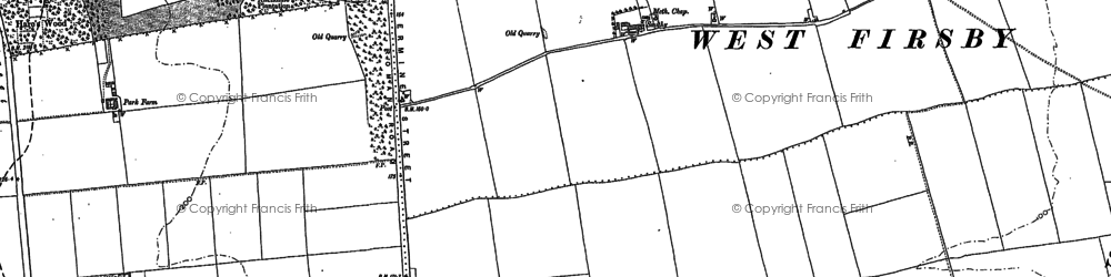 Old map of Ancholme Head in 1885