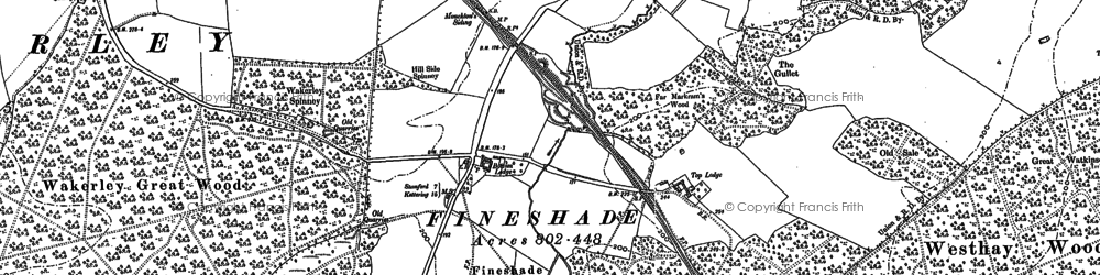 Old map of Adams Wood in 1899