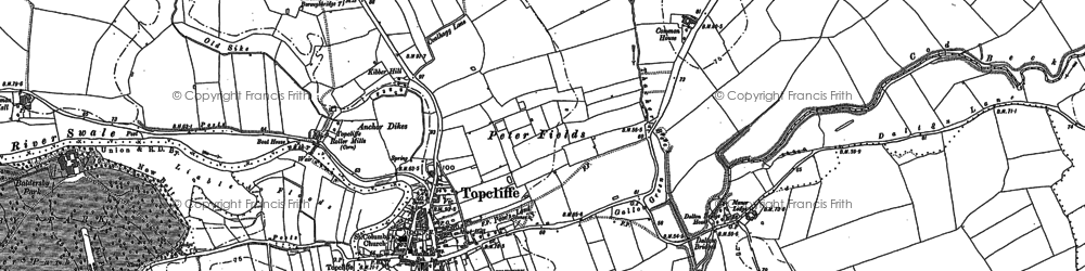 Old map of Topcliffe in 1890