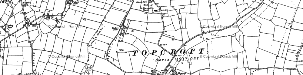 Old map of Winter's Grove in 1883