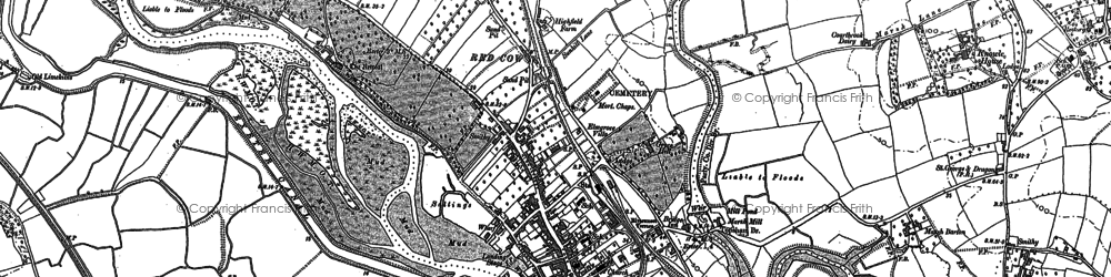 Old map of Topsham in 1887