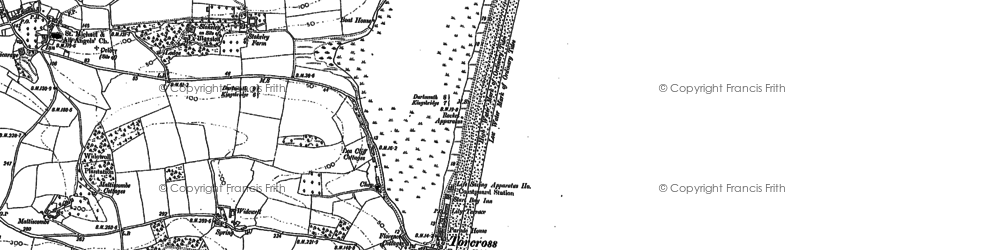 Old map of Limpet Rocks in 1905