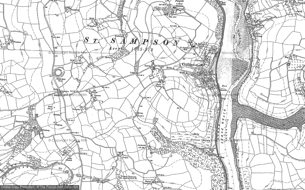 Old Map of Historic Map covering Leyonne in 1881