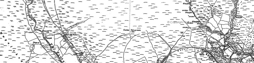 Old map of Ystradgynwyn in 1884