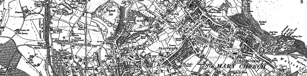 Old map of Torquay in 1904
