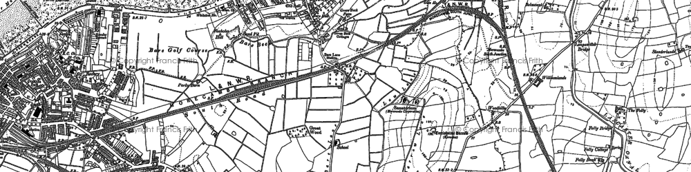 Old map of Torrisholme in 1910