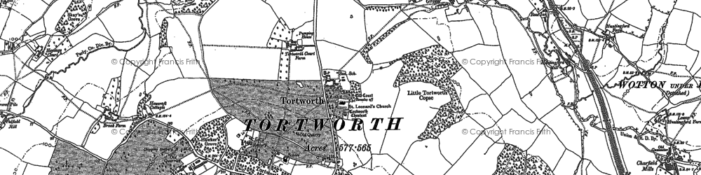Old map of Tortworth in 1880