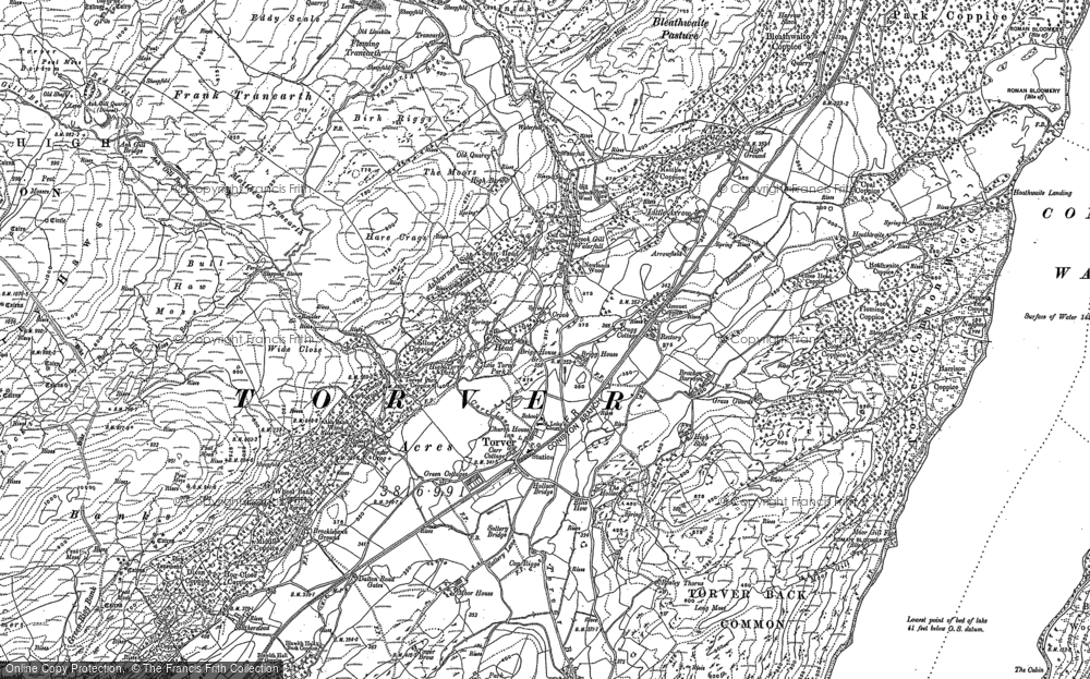 Old Map of Historic Map covering Bank End in 1912