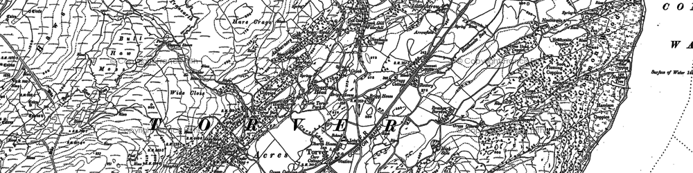 Old map of Bank End in 1912