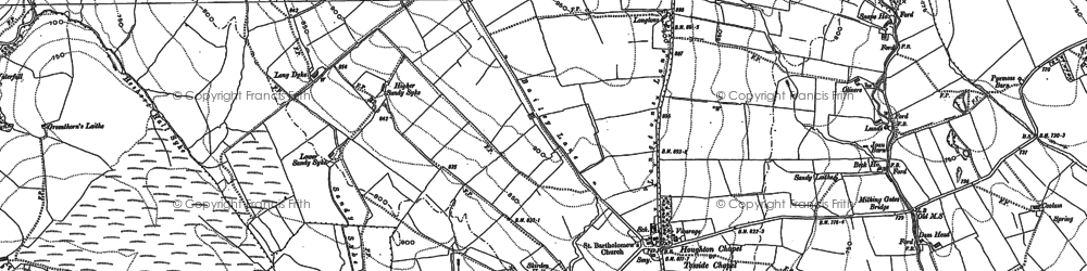 Old map of White Hill Ho in 1907