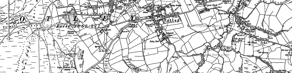 Old map of Owler Bar in 1876