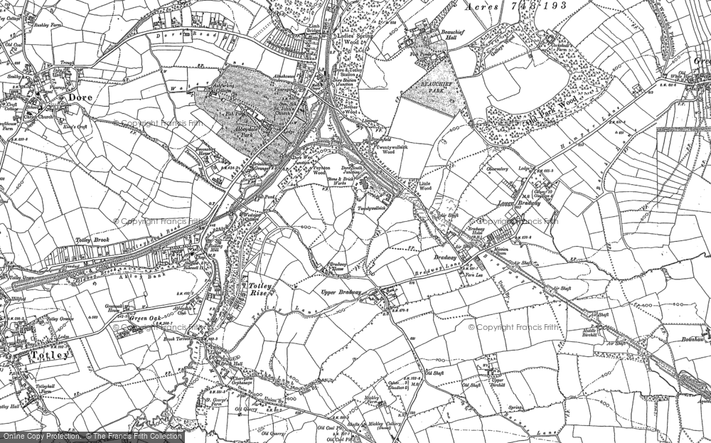 Old Map of Historic Map covering Abbeydale Park in 1903