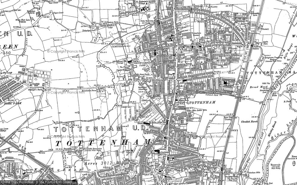 Map of Tottenham, 1894 - 1896