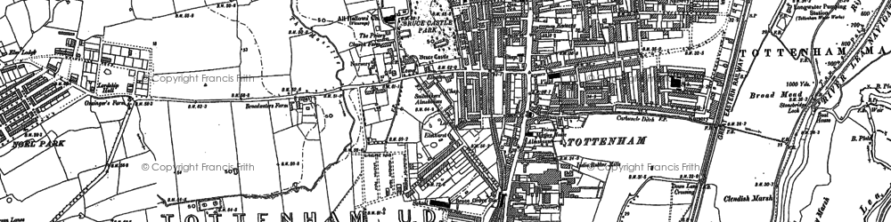 Old map of Tottenham in 1894