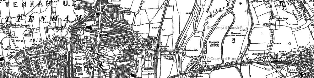 Old map of Higham Hill in 1894