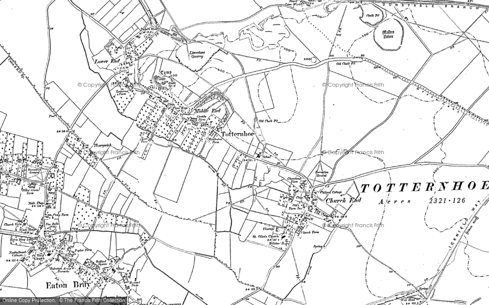 Map of Totternhoe, 1900