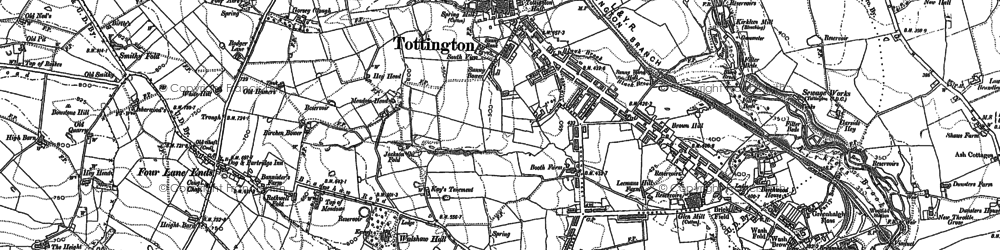 Old map of Tottington in 1891