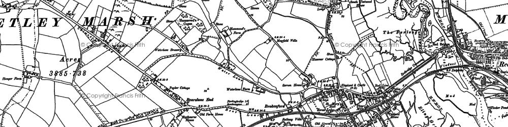 Old map of Ashurst Bridge in 1895