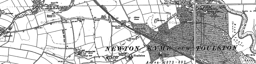 Old map of Wise Warren in 1890