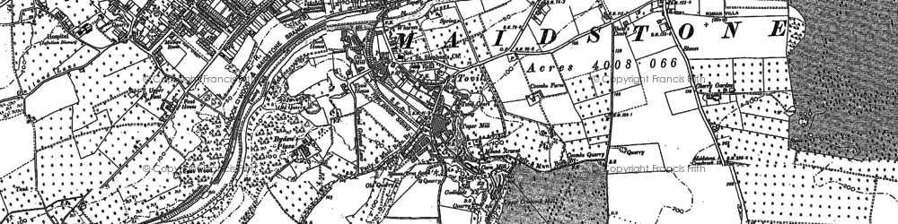 Old map of Abbey Gate Place in 1867
