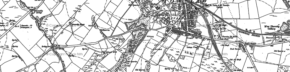Old map of Thornley in 1895