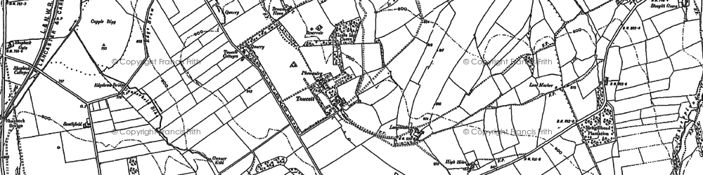 Old map of Windrigg Hill in 1897