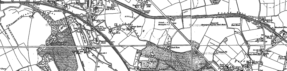 Old map of Lea Hall in 1901