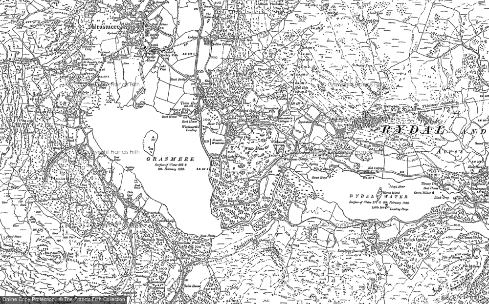 Old Map of Historic Map covering Alcock Tarn in 1898