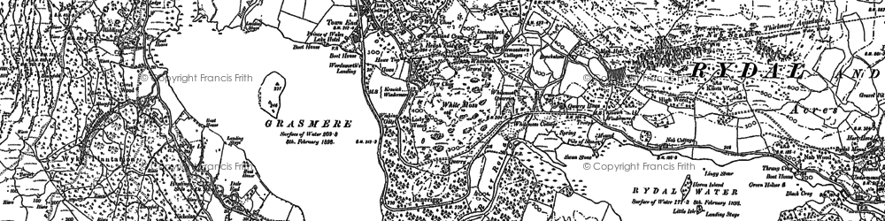 Old map of White Moss Common in 1898