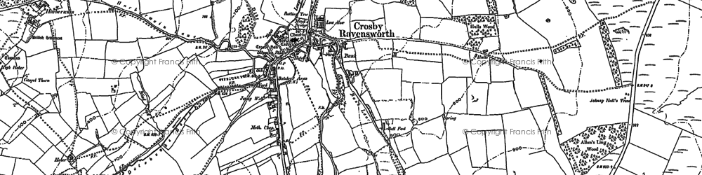Old map of Wickerslack in 1897