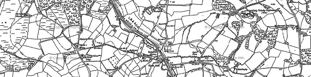 Old map of Heathfield in 1897