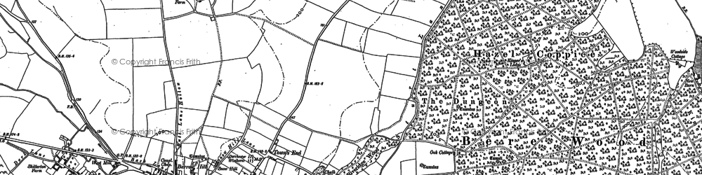 Old map of Woodbury Hill (Fort) in 1886