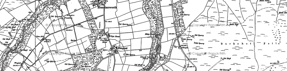Old map of Whitelees in 1895