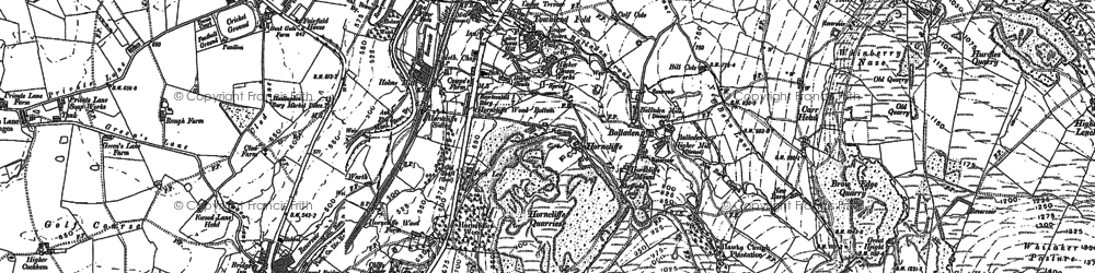 Old map of Balladen in 1891