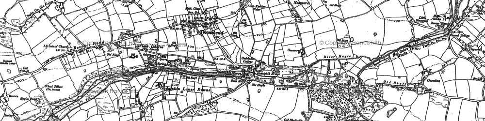 Old map of Townshend in 1877