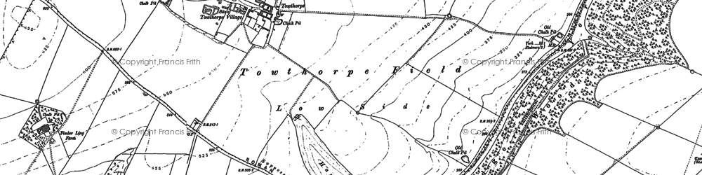 Old map of Badger Wood in 1888