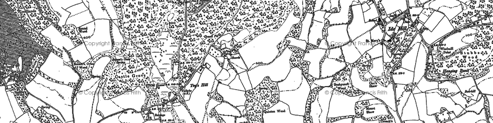 Old map of Toy's Hill in 1907