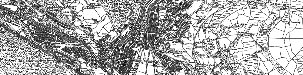 Old map of Coedpenmaen in 1898