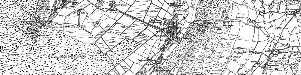 Old map of Ynysycapel in 1900
