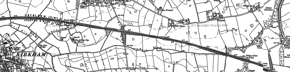 Old map of Bolton Houses in 1892