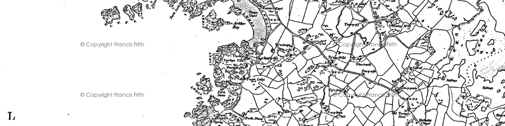 Old map of Bagnol in 1899