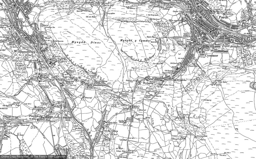 Old Map of Trebanog, 1898 in 1898