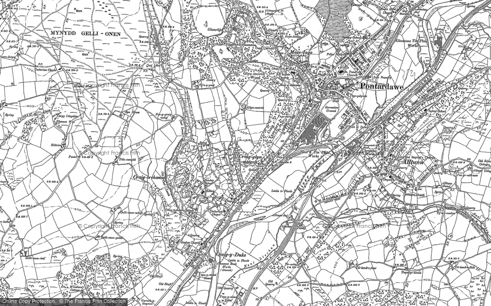 Old Map of Trebanos, 1897 in 1897