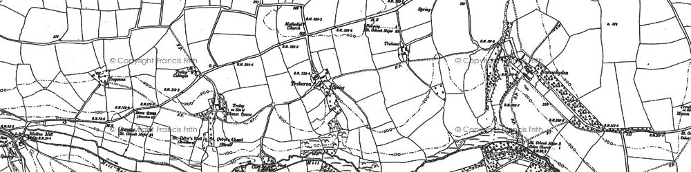 Old map of Trebarber in 1880