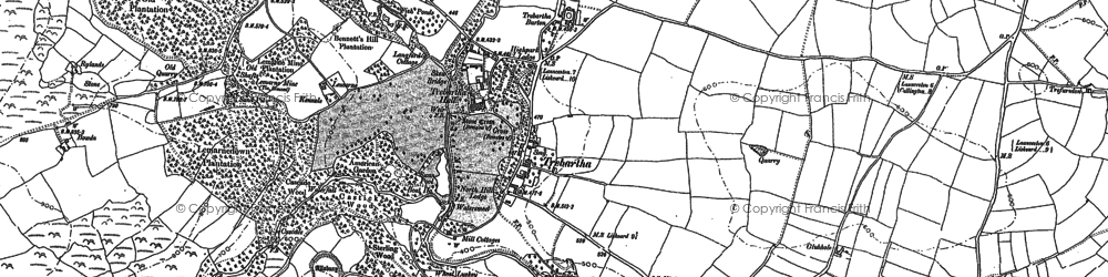 Old map of Trebartha in 1882